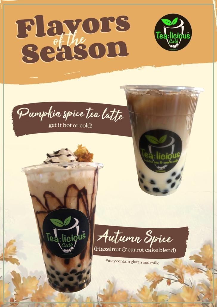 Tea:licious Pumpkin Spice Tea Latte and Autumn Spice